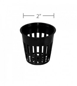 "Net Pot in 2"" inch Black Colour (20 Pieces)"