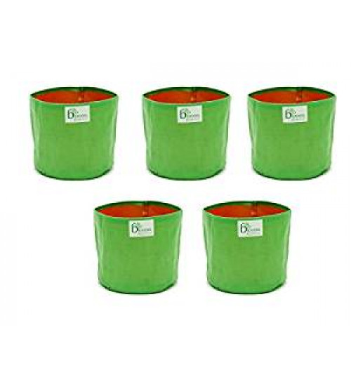 """Grow Bag For Vegetables And Spinach's Terrace Gardening  12"""" X 12"""" (Pack Of 5)"""