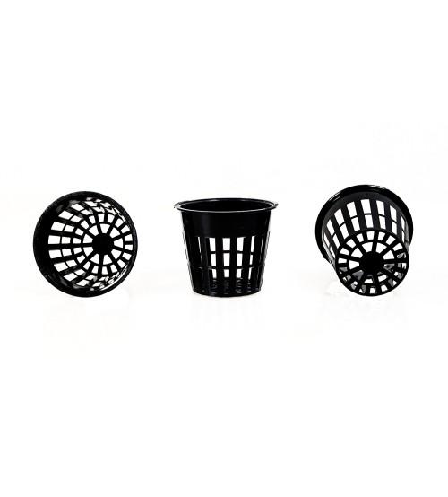 "Net Pot in 3"" inch Black Color ( 20 Pieces )"