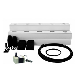 Ponic Greens NFT 25 Plant DIY Hydroponic Kit (NFT grow channels with Lid)